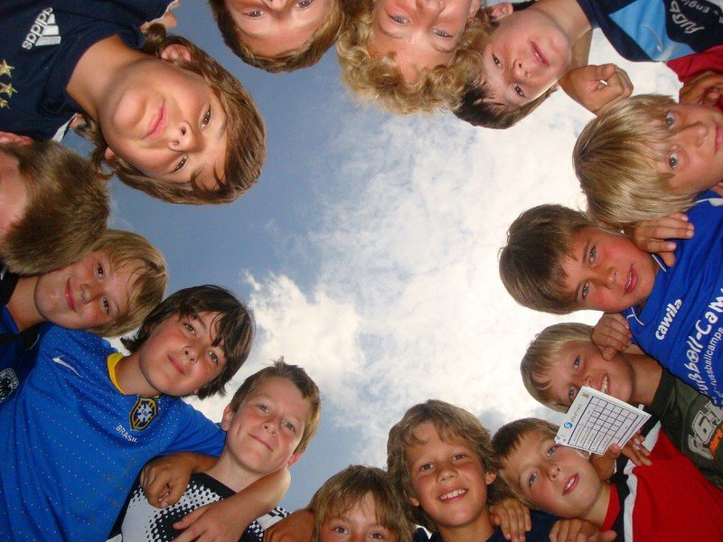 Kindergruppe im Fußballcamp
