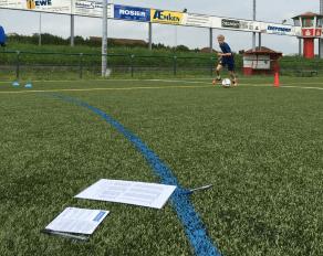 Fußballtest im Fußballcamp