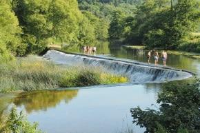Natürliche Swimmingpools, Staustufen Bath, Fluss Avon