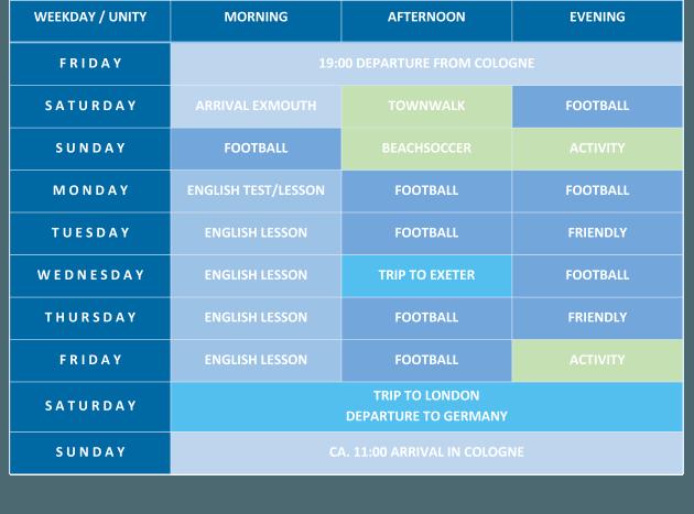 Exmouth Programm Ferienfussball
