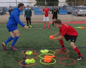 Käsekästchen Fußballtraining