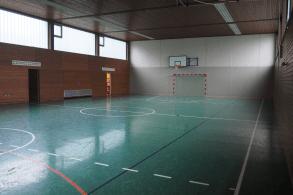 Turnhalle im Fußballcamp