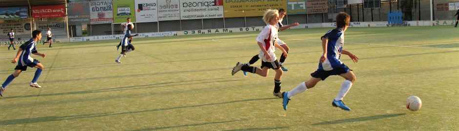Fußballtraining an der Costa Brava