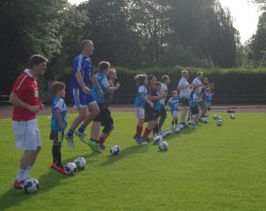 Trainingseinheit Fußballcamp