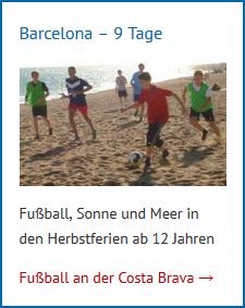 Fußballcamp Spanien Barcelona