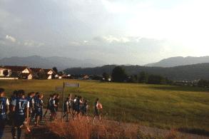 Alpenblick von der Jugendherberge Bad Tölz