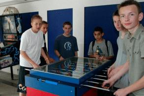 Kicker an der Jugendherberge Wiehl